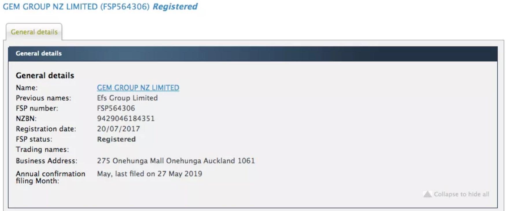 Gemforexはニュージーランド金融事業者登録(FSP、番号:FSP564306)されています。