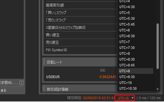AXIORYのcTraderの日本時間への変更