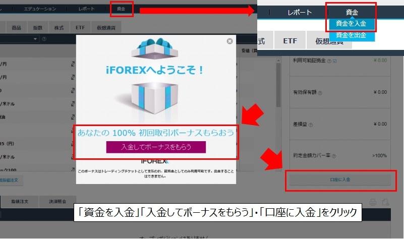 iForex口座開設後の入金の流れ1