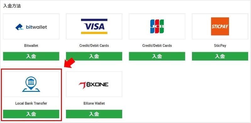 銀行送金によるXMへの入金手順2