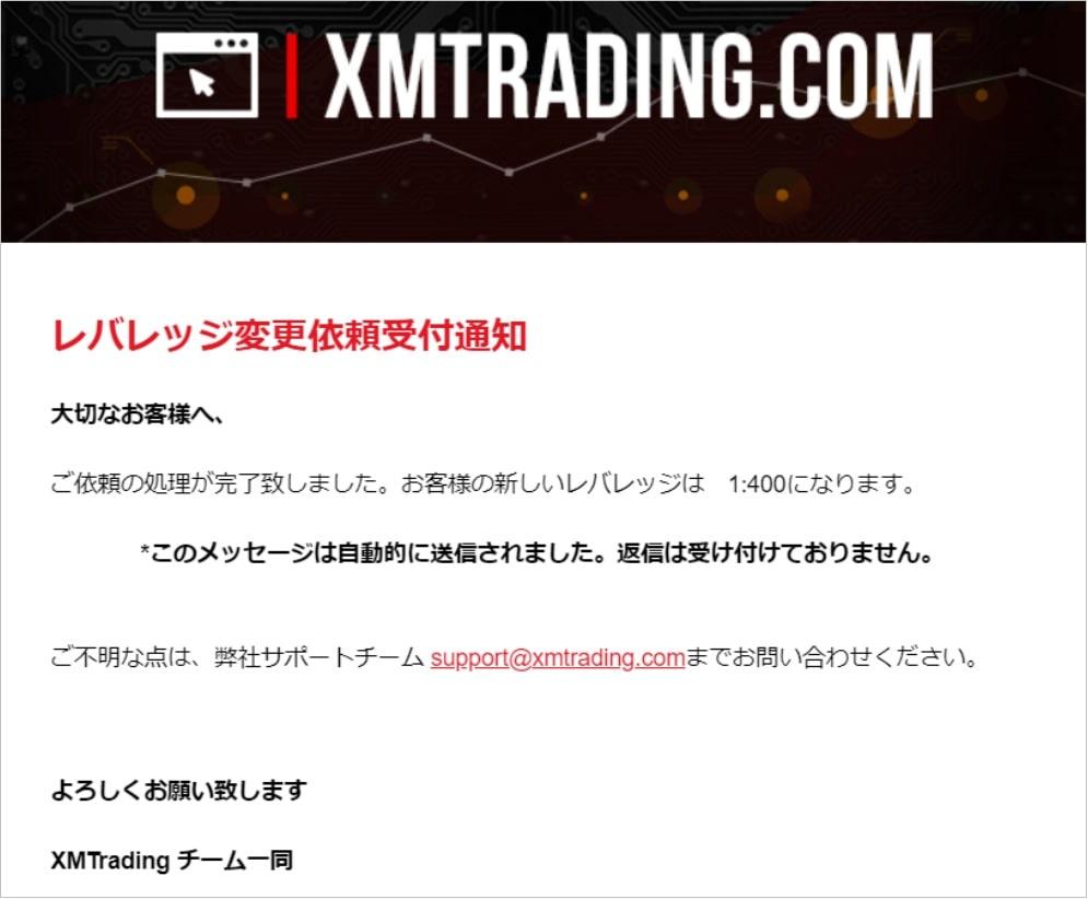 XMのレバレッジ変更方法4